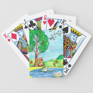 """Bear with Flowers"" Playing Cards"