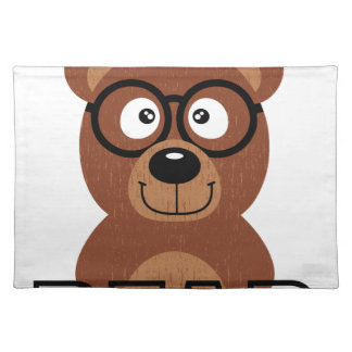 Bear with glasses placemat