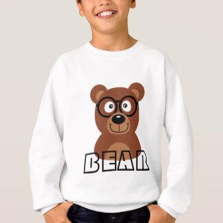 Bear with glasses sweatshirt