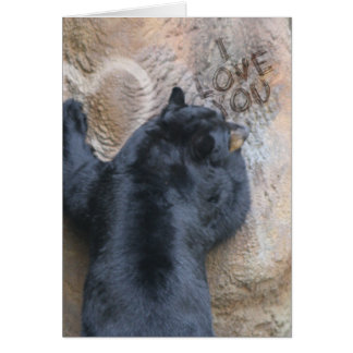 BEAR WITH ME - BEAR SCRATCHES I LOVE YOU TO WALL GREETING CARD