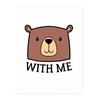 Bear With Me Postcard