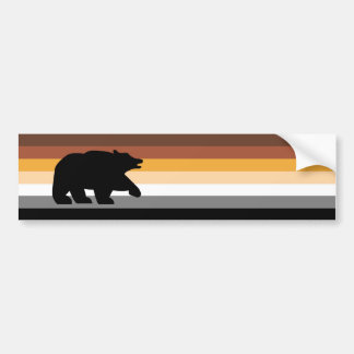 Bear with Pride Bumper Sticker