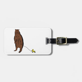 Bear with Rubber Duck Travel Bag Tag