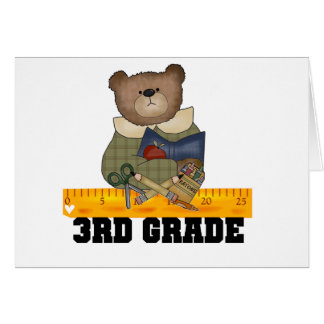 Bear With Ruler 3rd Grade Greeting Card