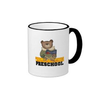Bear with Ruler Preschool Tshirts and Gifts Coffee Mug