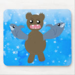 Bear With Sharks For Arms Mouse Pad