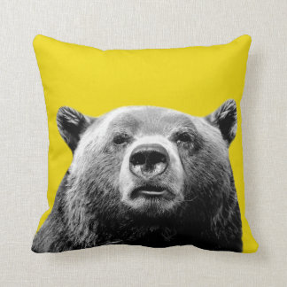 Bear woodland animal photo nursery kids room throw pillow