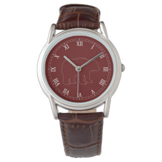 Bear Woodland Theme with White Roman Numerals Watch