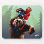 Bear Wrasslin' - Mousepad