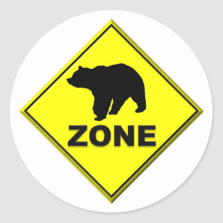 Bear Zone Classic Round Sticker