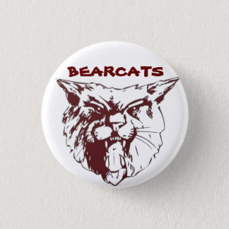 bearcat_head-only, BEARCATS 1 Inch Round Button