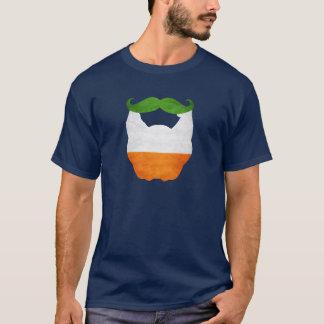 Beard and Mustache Irish Flag T-Shirt