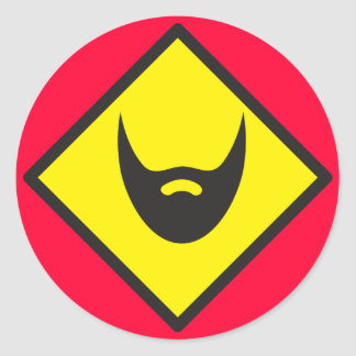 BEARD crossing Round Sticker