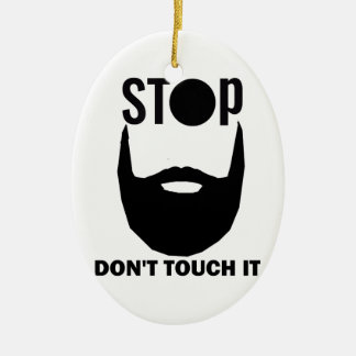 beard design ceramic ornament
