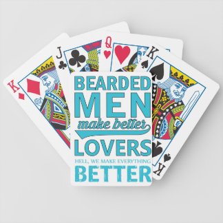 beard men makes better lovers bicycle playing cards