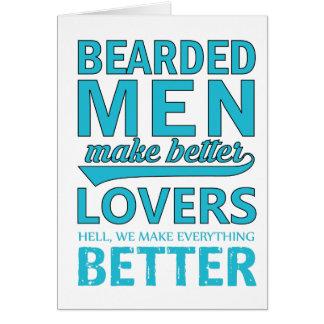 beard men makes better lovers card