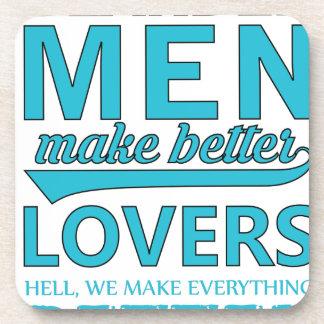 beard men makes better lovers coaster