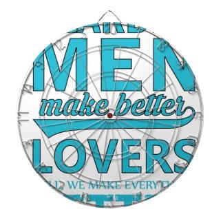 beard men makes better lovers dartboard