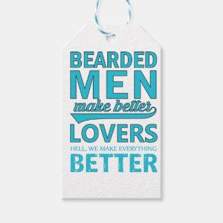 beard men makes better lovers gift tags