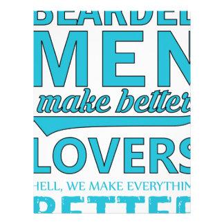 beard men makes better lovers letterhead