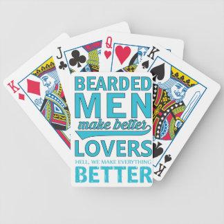 beard men makes better lovers poker deck