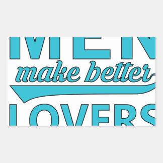 beard men makes better lovers sticker