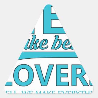 beard men makes better lovers triangle sticker
