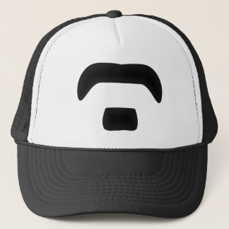 Beard moustache beard moustache trucker hat