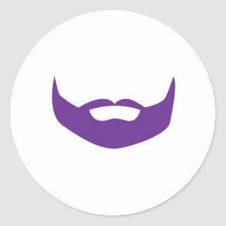 Beard Round Sticker