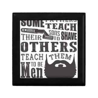 Beard, some father teach to shave others to be a m gift box