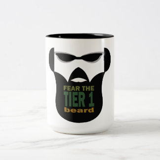 Beard War Two-Tone Coffee Mug