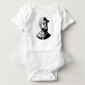 Bearded Chef Scratchboard Baby Bodysuit