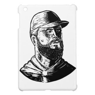 Bearded Chef Scratchboard iPad Mini Covers