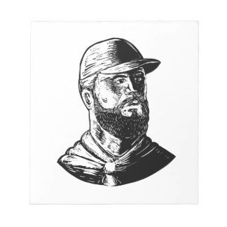 Bearded Chef Scratchboard Notepad