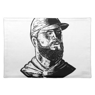 Bearded Chef Scratchboard Placemat