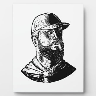 Bearded Chef Scratchboard Plaque