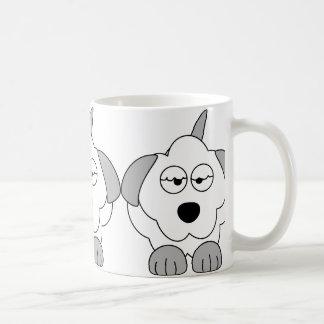 bearded collie cartoon 2 coffee mug
