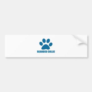 BEARDED COLLIE DOG DESIGNS BUMPER STICKER