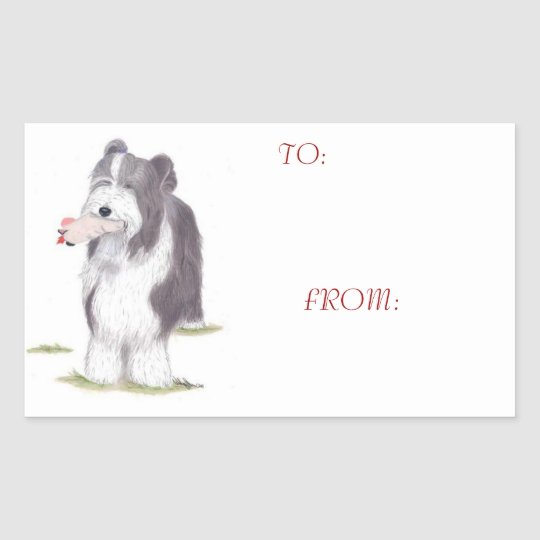 Bearded Collie - Gift Tag