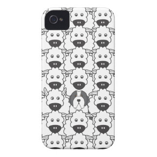 Bearded Collie in the Sheep iPhone 4 Cover