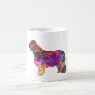 Bearded collie in watercolor coffee mug