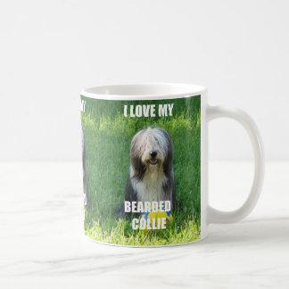 bearded collie love w pic coffee mug