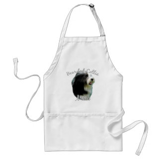 Bearded Collie Mom 2 Standard Apron