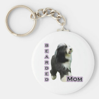 Bearded Collie Mom 4  - Keychain