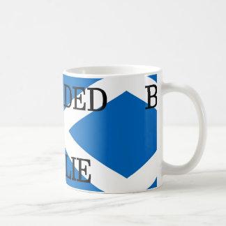 bearded collie name on flag coffee mug