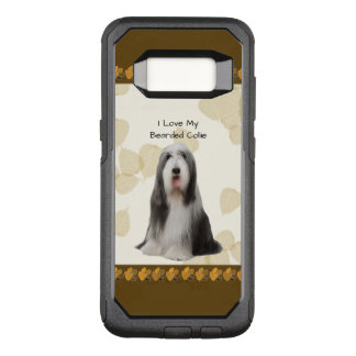 Bearded Collie on Tan Leaves OtterBox Commuter Samsung Galaxy S8 Case