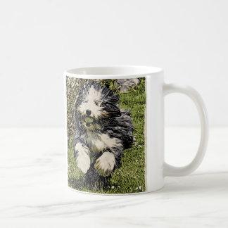 Bearded Collie on the Run Mug