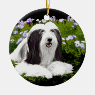 Bearded Collie (Painted) Ceramic Ornament