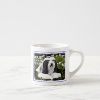 Bearded Collie (Painted) Espresso Cup
