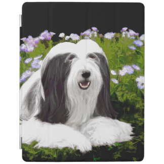 Bearded Collie (Painted) iPad Cover